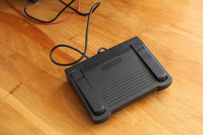 Foot pedal, copyright 2018 Rachel Abernathy, all rights reserved.