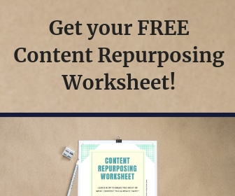 Free content repurposing worksheet