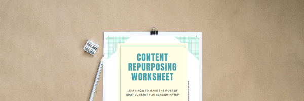 free content repurposing worksheet graphic